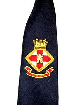HMS Londonderry badged tie