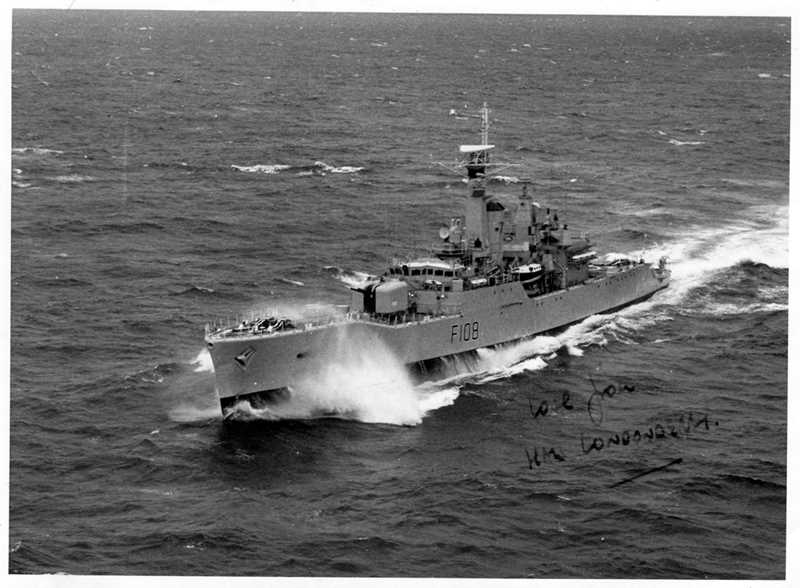 HMS Londonderry on the South America and South Atlantic Station in the 1970s