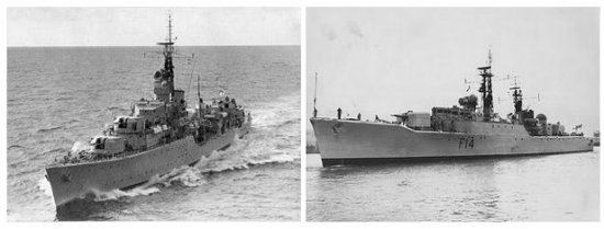 HMS Dunkirk and HMS Leopard